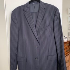 Zegna men's black pinstripe suit